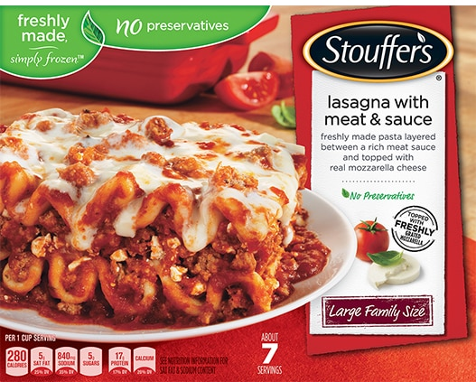Large Family Size Lasagna with Meat & Sauce