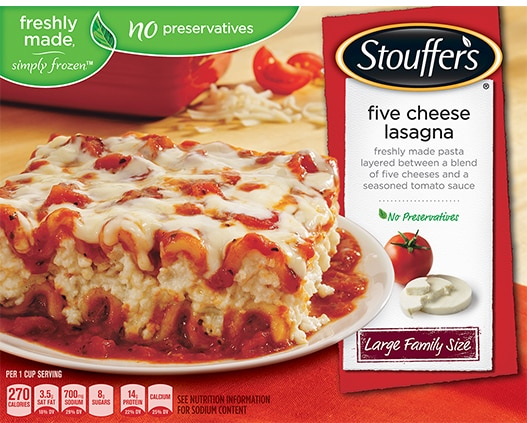 freshly made simply frozen dinners and dishes  stouffer's