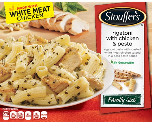 Family Size Rigatoni with Chicken & Pesto