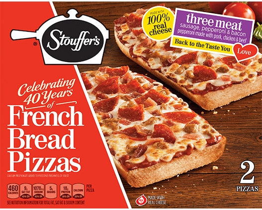 French Bread Pizza Three Meat Pizza