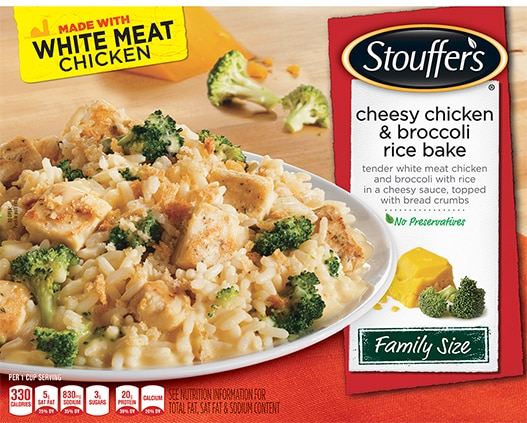 Family Size Cheesy Chicken & Broccoli Rice Bake