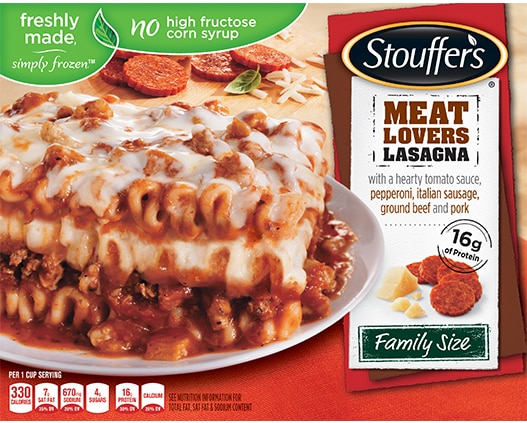 Family Size Meat Lovers Lasagna