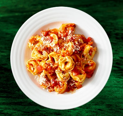 Tortellini with Red Pepper Sauce