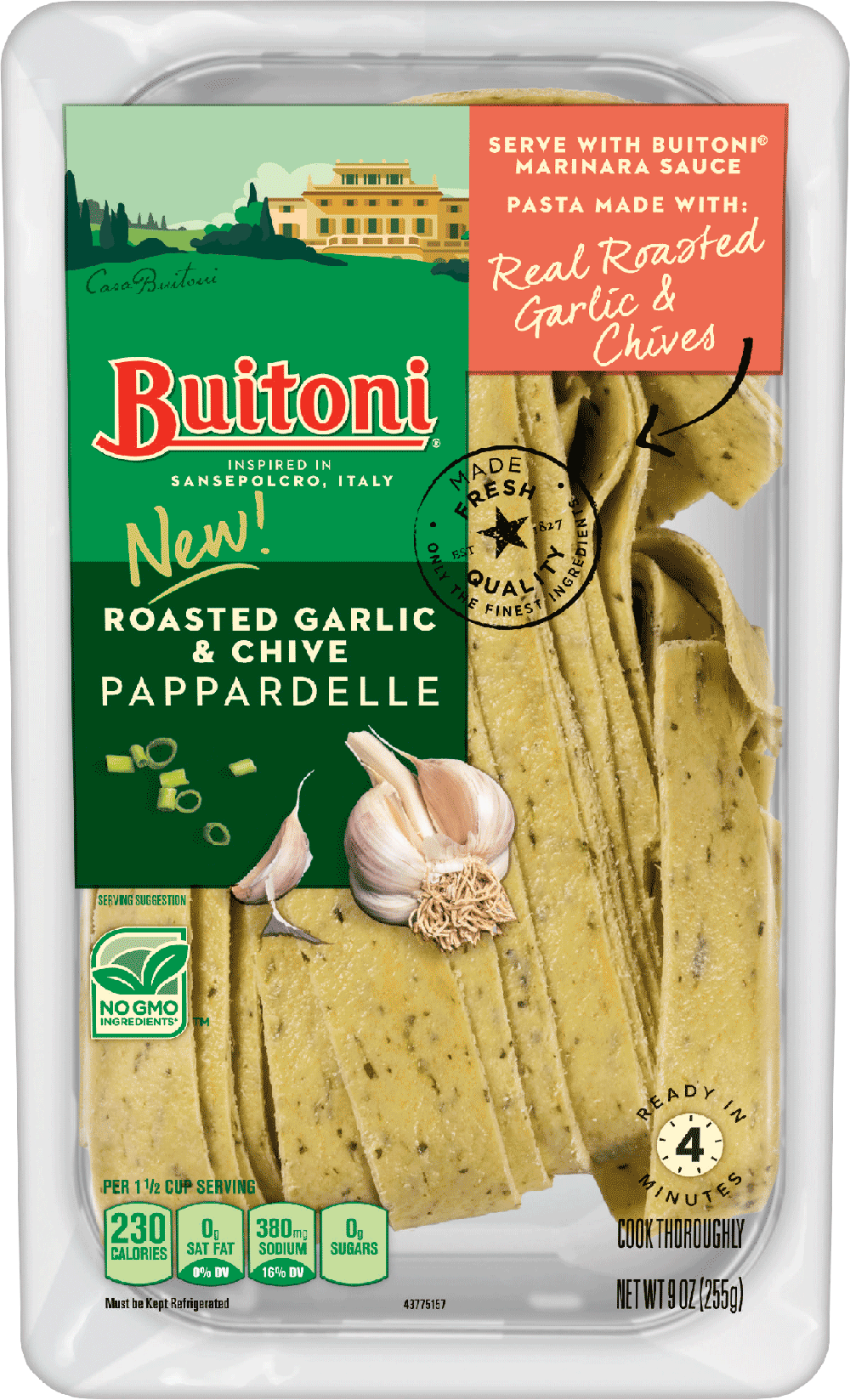 Roasted Garlic & Chive Pappardelle