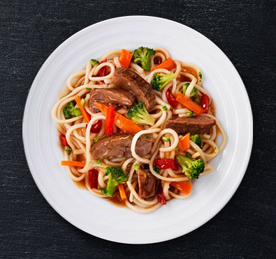 Garlic Sesame Noodles with Beef