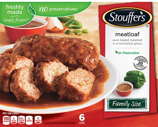 Family Size Meatloaf in Gravy