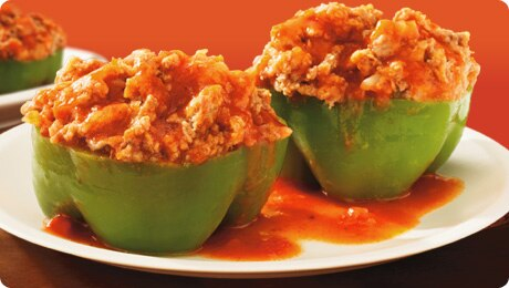 Family Size Stuffed Green Peppers