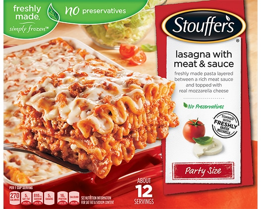 Party Size Lasagna with Meat & Sauce