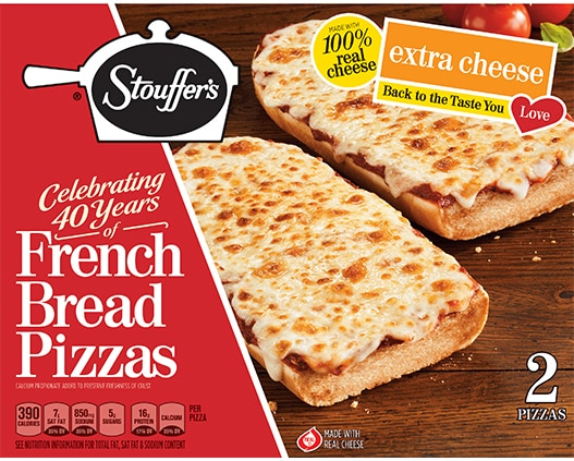 French Bread Pizza Extra Cheese Pizza