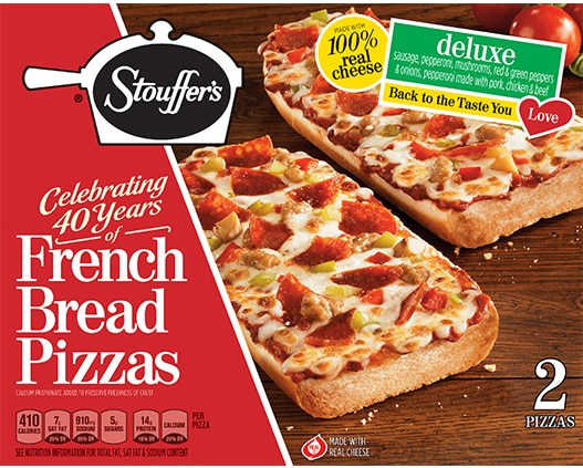French Bread Pizza Deluxe Pizza