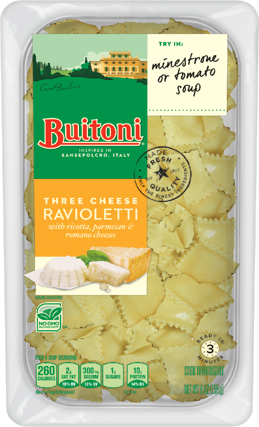 Three Cheese Ravioletti