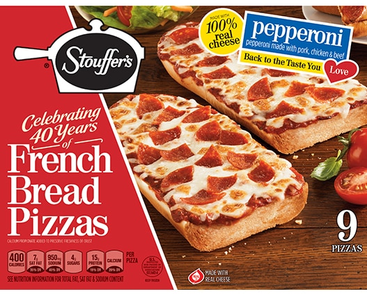 9 Pack French Bread Pizza Pepperoni Pizza