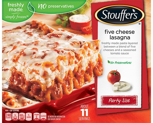 Party Size Five Cheese Lasagna